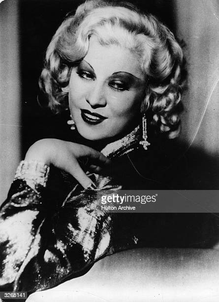 Mae West in her prime, an American leading lady and the archetypal sex symbol.