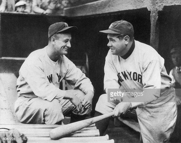 New York Yankee baseball players Lou Gehrig and Babe Ruth Gehrig's career ended when he was afflicted by the incurable disease amyotrophic lateral...