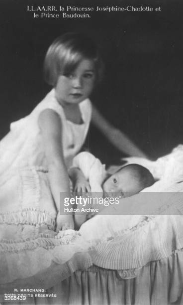 Princess JosephineCharlotte and Prince Baudouin children of King Leopold III of Belgium and Princess Astrid of Sweden JosepineCharlotte later married...
