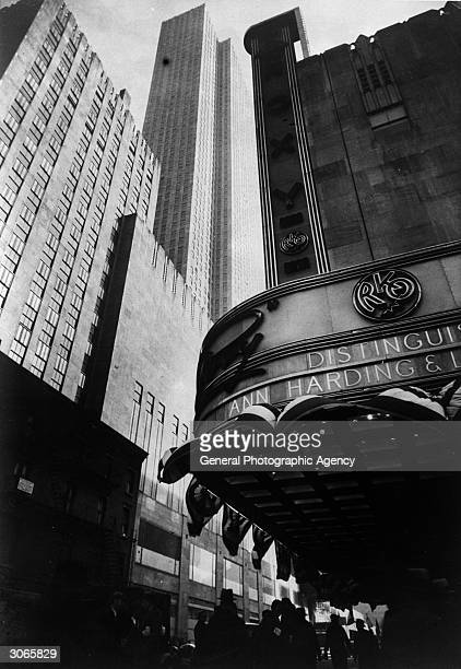 RKO Roxy cinema part of the Rockefeller Centre New York viewed from 6th Avenue