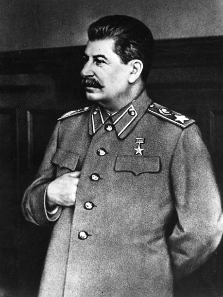 Soviet statesman and Premier Joseph Stalin .