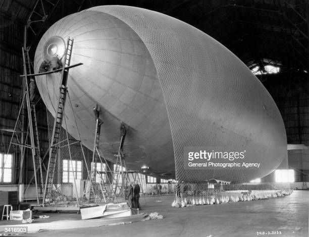 TC 13 Airship being inflated