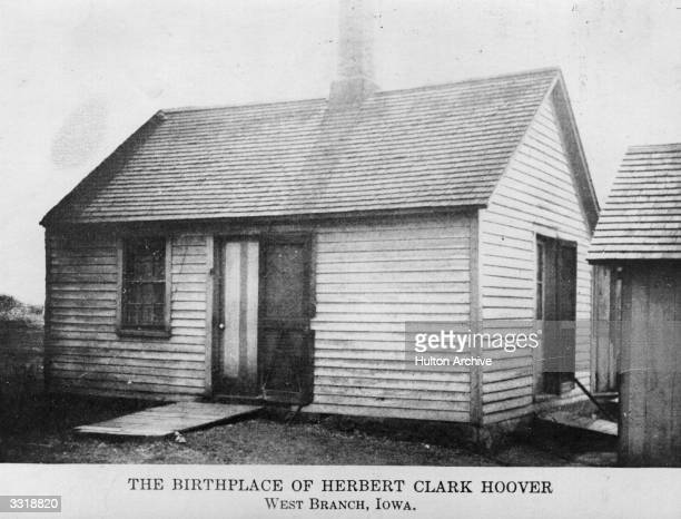 The birthplace of Herbert Hoover , the 31st President of the United States, in West Branch, Iowa.