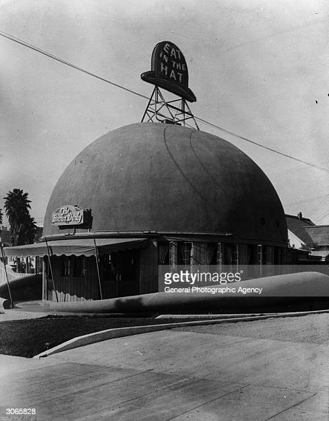 'The Brown Derby' a well known restaurant in Los Angeles patronised by members of the film world