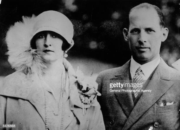 The ex King George of Greece with his Queen formerly Princess Elisabeth of Romania