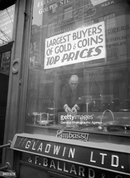 The gold trading establishment of Gladwin Ltd and F Ballard & Co in Hatton Gardens, the jewellers' district of London.
