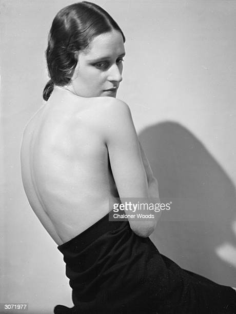 Wife of photographer Chaloner Woods strikes a pose for her husband