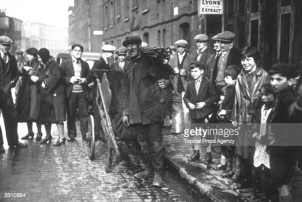 Chimneysweep Mr T Brookes who became Mayor of Bethnal Green London