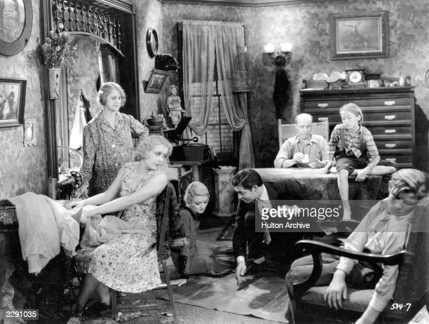 Clark Gable Constance Bennett Anita Page Andy Shuford and Jack Hanlon star in 'The Easiest Way' a film about a poor but hardworking girl who falls...