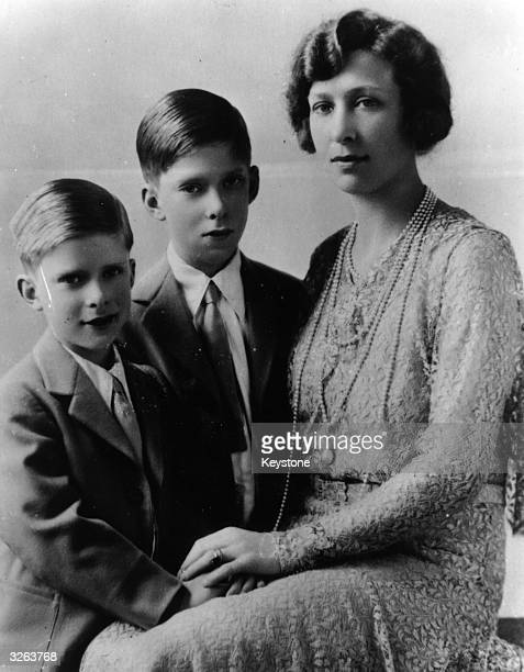 The Princess Royal the only daughter of George V with her children the Hon Gerald and the Hon George Lascelles
