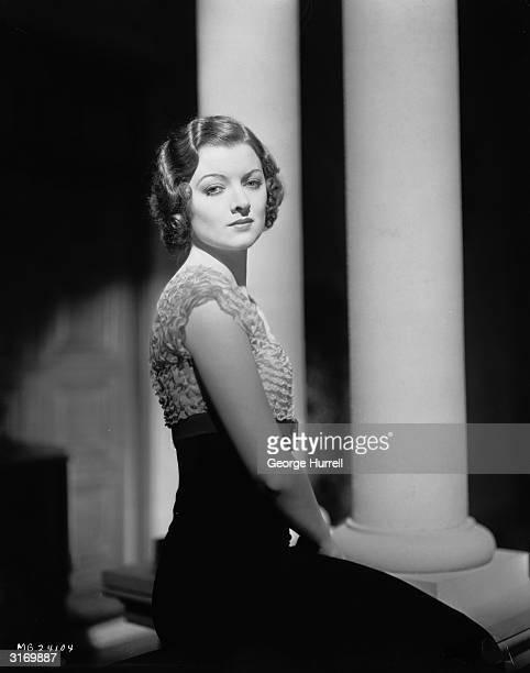 American actress Myrna Loy