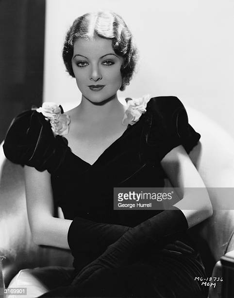 American actress Myrna Loy
