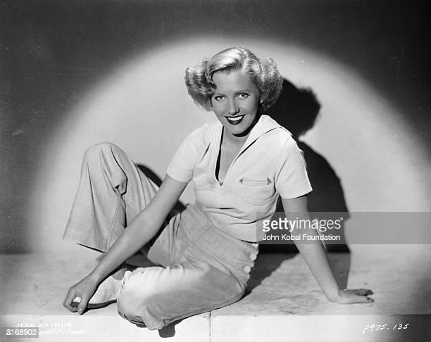 Film star Jean Arthur in the spotlight