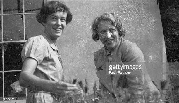 Frances Partirdge left and Dot McKie a friend from her days at Cambridge at Ham Spray Wiltshire