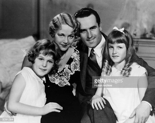 Harold Lloyd the American film comedian in 1952 of the Honarary variety Here he is seen with his wife Mildred Davis and daughters