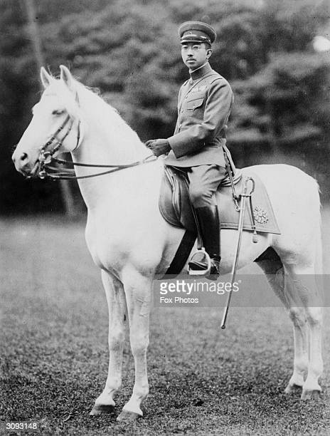 Hirohito Emperor Hirohito of Japan riding a white horse The first Japanese prince ever to visit the West he ruled from 1926 to 1946 when he renounced...