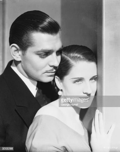 Hollywood film actress Norma Shearer with Clark Gable in a publicity shot for 'Strange Interlude' directed by Robert Z Leonard 'Strange Interlude'