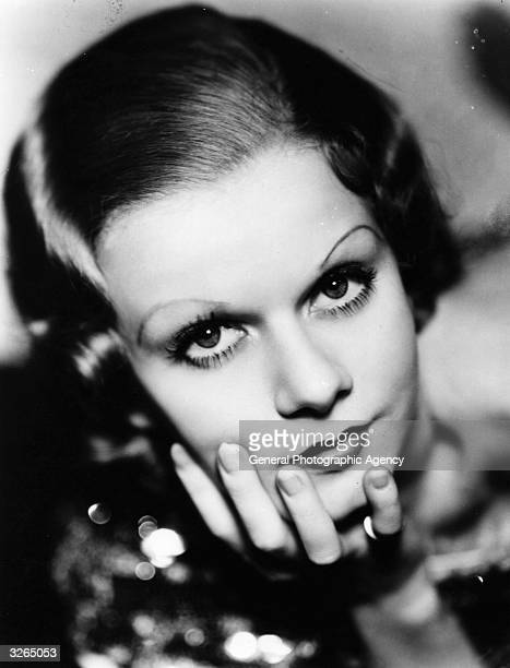 Jean Harlow the American film actress originally named Harlean Carpentier usually seen with 'platinum blonde' hair