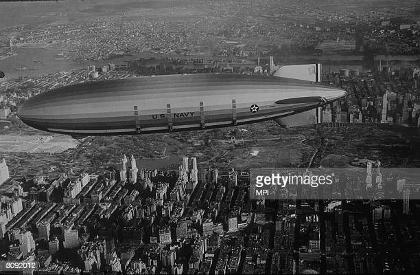 Navy airship Akron over New York.