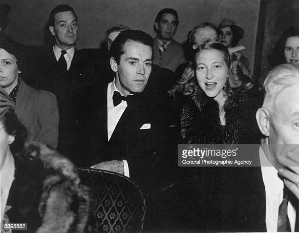 American actor Henry Fonda amongst a theatre audience