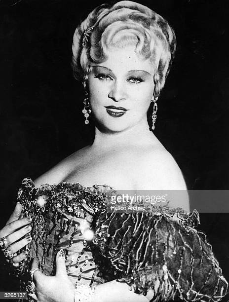American film actress & sex symbol, Mae West .