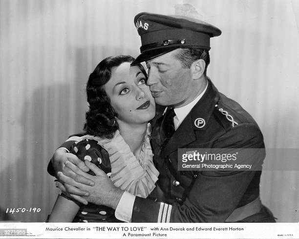Ann Dvorak the screen name of Ann McKim the American leading lady and Maurice Chevalier the French singing entertainer who became an International...