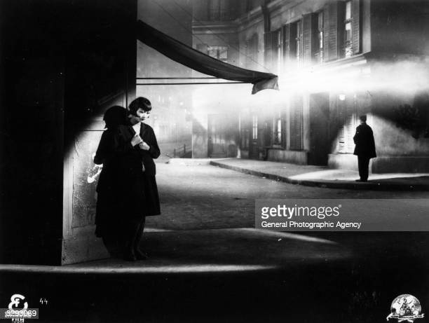 ChineseAmerican actress Anna May Wong formerly Wong Liu Tsong hides in the shadows in a scene from an unknown German film