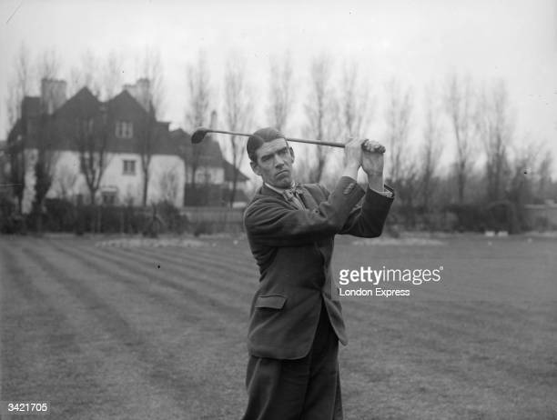 English golfer George Duncan, a member of the England team in the Ryder Cup.
