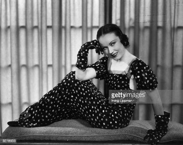 Fay Wray American film actress modelling a gown by Dot Grigson of Los Angeles She starred in 'King Kong' the best monster movie of all time achieving...