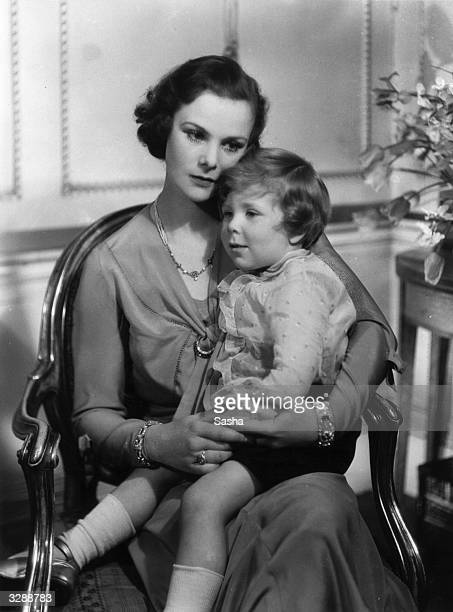 Mrs Ronald ArmstrongJones with her son Antony who later married Princess Margaret