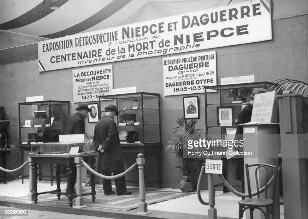 Retrospecitive exhibition at the time of the centenary of the death of Niepce inventor of photography and Louis Jacques Mande Daguerre at the Porte...