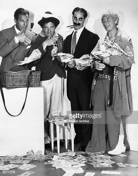 The Marx Brothers from left to right Zeppo Chico Groucho and Harpo