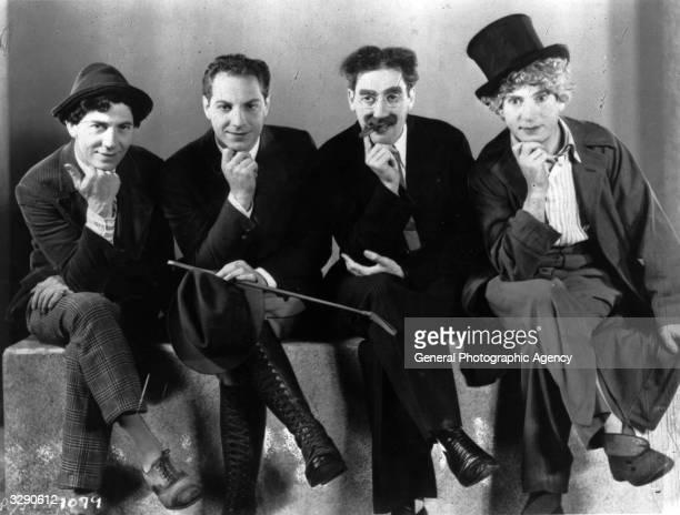 The Marx Brothers sons of German immigrants to New York From left Leonard or Chico Herbert or Zeppo Julius Henry or Groucho and Adolf or Harpo