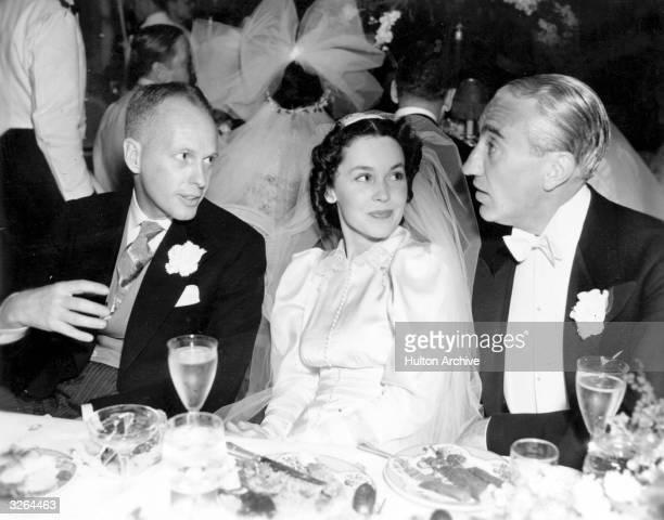 A wedding reception with Australian director John Farrow and actress Maureen O'Sullivan