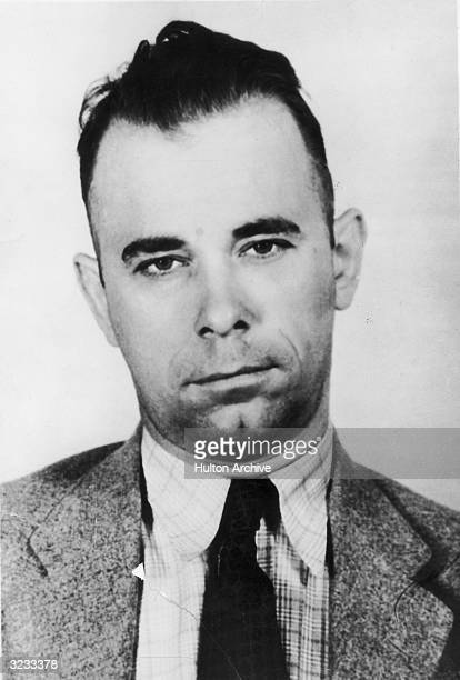 American bank robber John Dillinger whose exploits throughout the depression hit midwest earned him the title 'Public Enemy Number One'