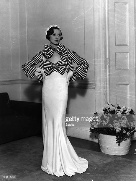 An evening gown by Victor Stiebel