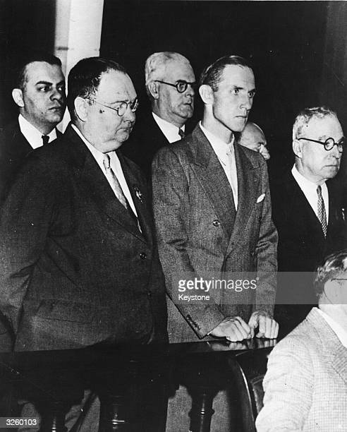 Bruno Hauptmann , who murdered the son of Charles Lindbergh, at the Bronx Court.