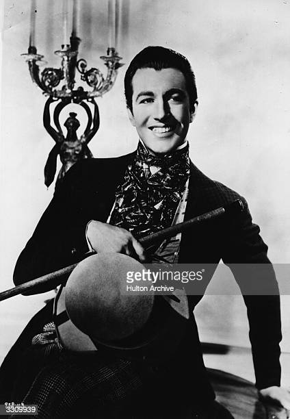 Robert Taylor the screen name of Spangler Arlington Brugh the American leading man who was contracted to Metro Goldwyn Mayer He is dressed in a film...