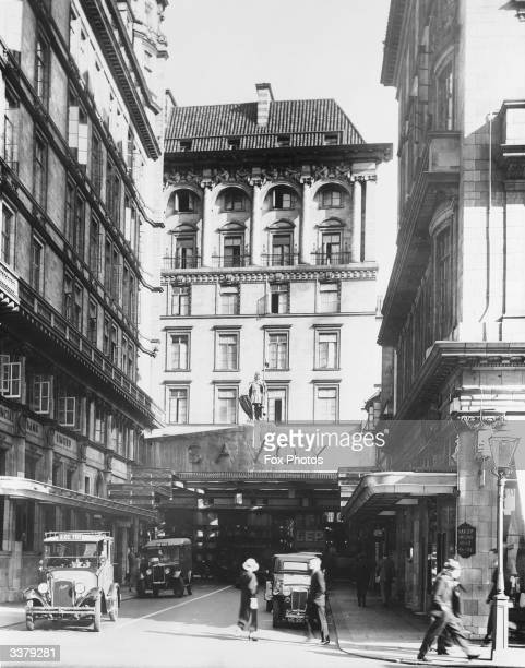 The Entrance of the Savoy hotel London