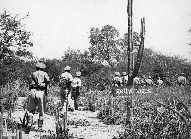 A Bolivian patrol near the Pilcomayo River in the Chaco district near the border with Paraguay during the Chaco War