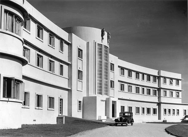 A view of the front elevation of the Midland Hotel...