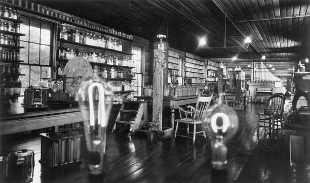 A view of the upstairs of Thomas Edison's Menlo Park...