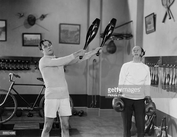 Actors Edmund Lowe and Lucien Littlefield in the film 'The Reason Why'