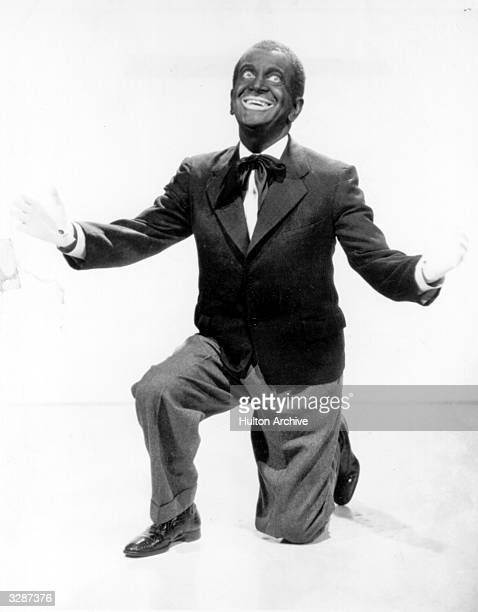 Al Jolson the American singer actor and film star who specialised in musicals generally 'blackingup' for his roles