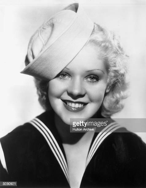 American actor and singer Alice Faye wearing a middy and a sailor's cap
