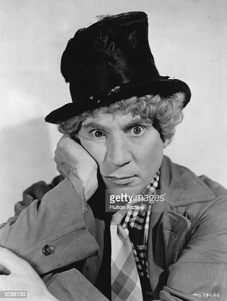 American actor musician and comic Adolph 'Harpo' Marx