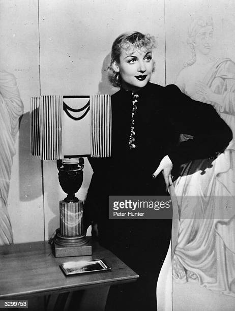 American actress Carole Lombard who starred in Mack Sennett's comedies before joining Paramount in 1930 She married and divorced actor William Powell...