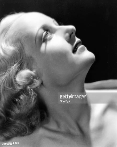 American actress Carole Lombard who was married to actor Clark Gable when she died in a plane crash in 1942