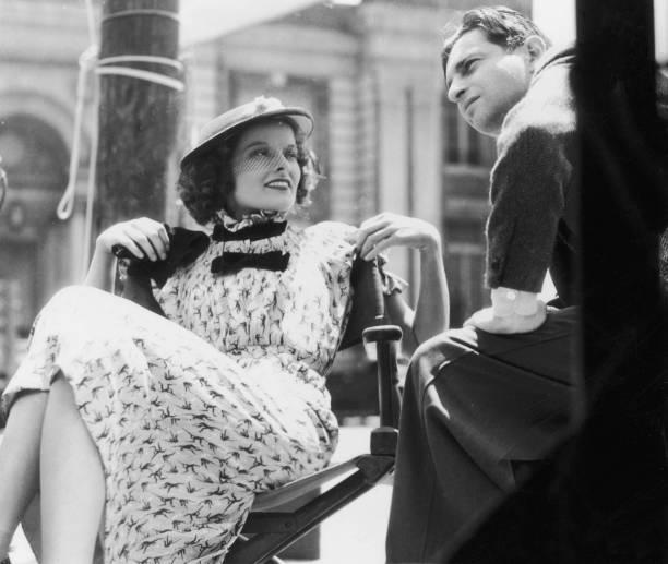 Hepburn On Set