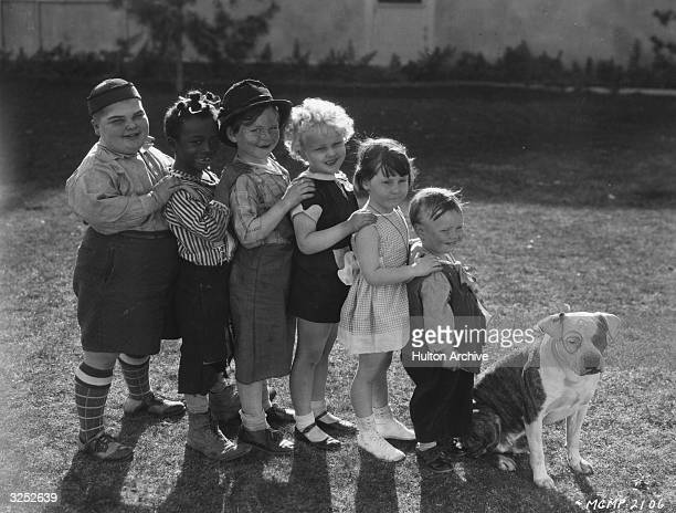 American children's film comedy group 'Our Gang' Joe Cobb Farina Harry Spear Jean Darling Mary Ann Jackson Wheezer and Patsy the dog